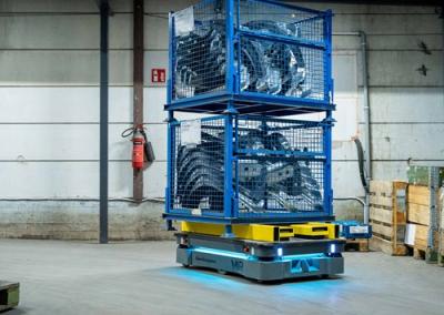 עגלה רובוטית שיתופית תוצרת MiR: החזר השקעה מהיר במיוחד (ROI).